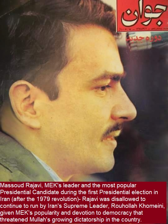 Massoud Rajavi, the leader of MEK