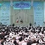 Khamenei, speaking among regime supporters in Qom.