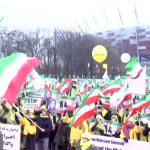 MEK rally demanding the NCRI to be recognized as the viable democratic alternative to the religious dictatorship in Iran