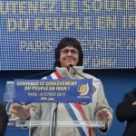 Michéle de Vaucouleurs,French MP addressing Free Iran rally