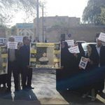 Families of Esmail Bakhshi protest for his release.