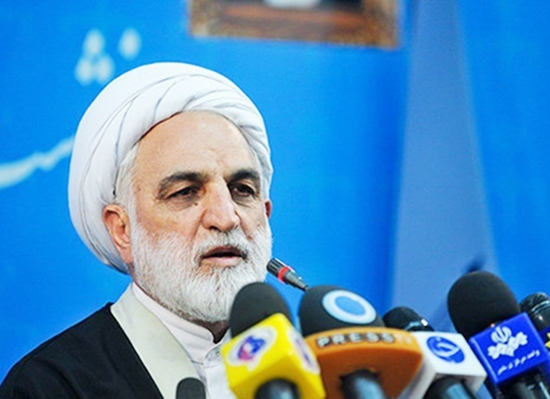 Mohseni Eje'ii, the regime's First Deputy Minister and Spokesman of Iran regime's Judiciary