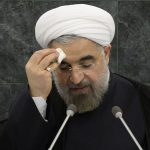 Hassan Rouhani speaking at the UN