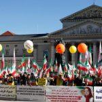 MEK demonstration outside MSC2019 conference in Munich