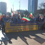 MEK's supporters protest outside HRC40 in Geneva