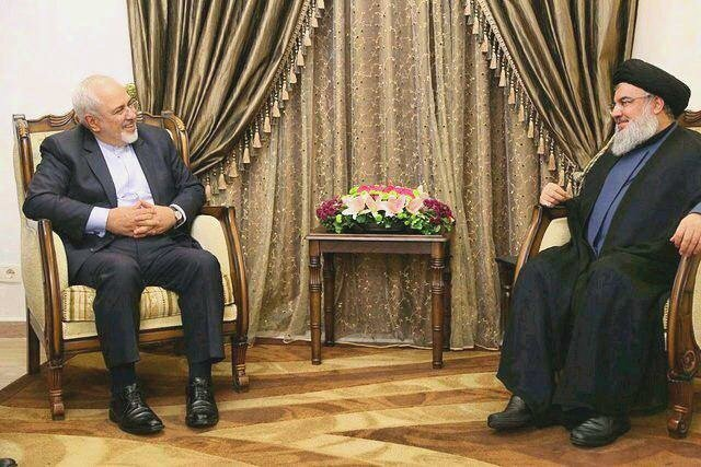 zarif meeting Hezbollah leader