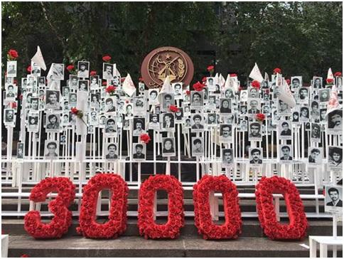 In memory of 30000 fallen heroes, massacred in 1988