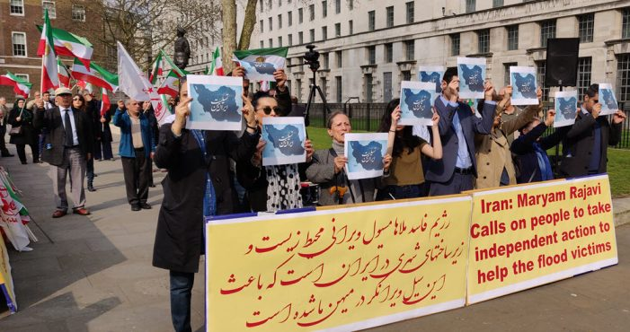 MEK supporters rally in London