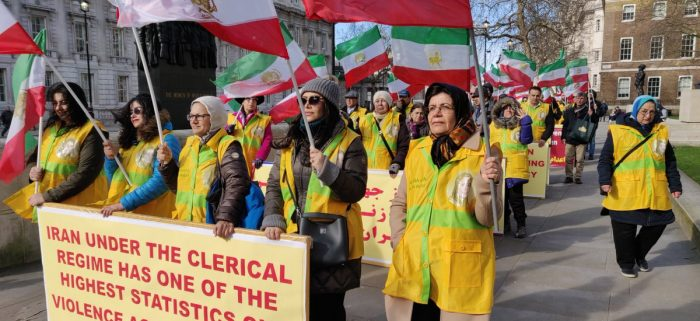 Angelo-Iranian communities demonstration in London on the occasion of IWD-2019