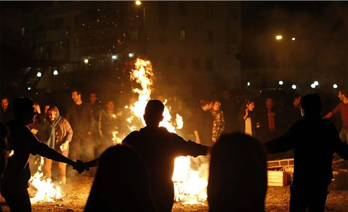 Fire festival in Iran
