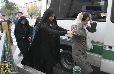 "Arresting women in Iran for ""malveiling"""