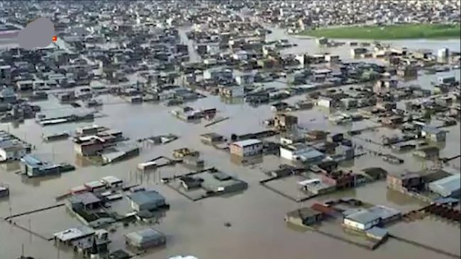 Iran Floods covers cities across the country