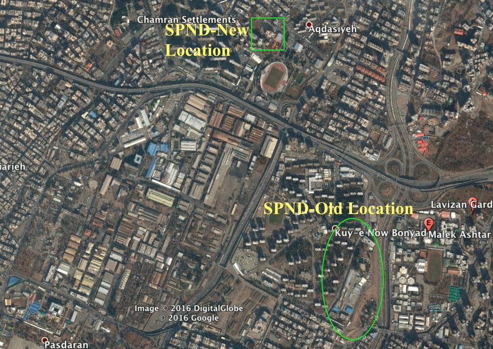 SPND site in Tehran