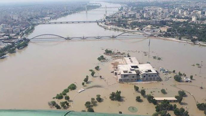 Ahvaz under flood