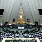 A session of the Iranian regime's parliament