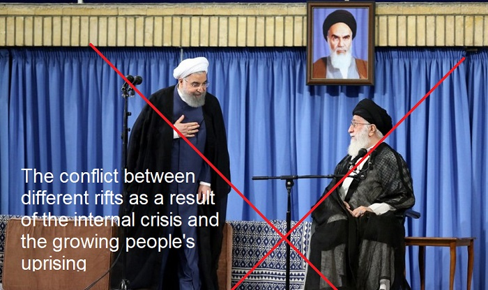 Infighting between Khamenei and Rouhani