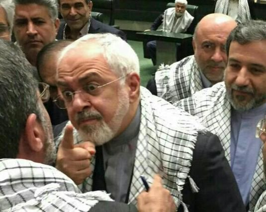 Javad Zarif during a quarrel in regime Majlis