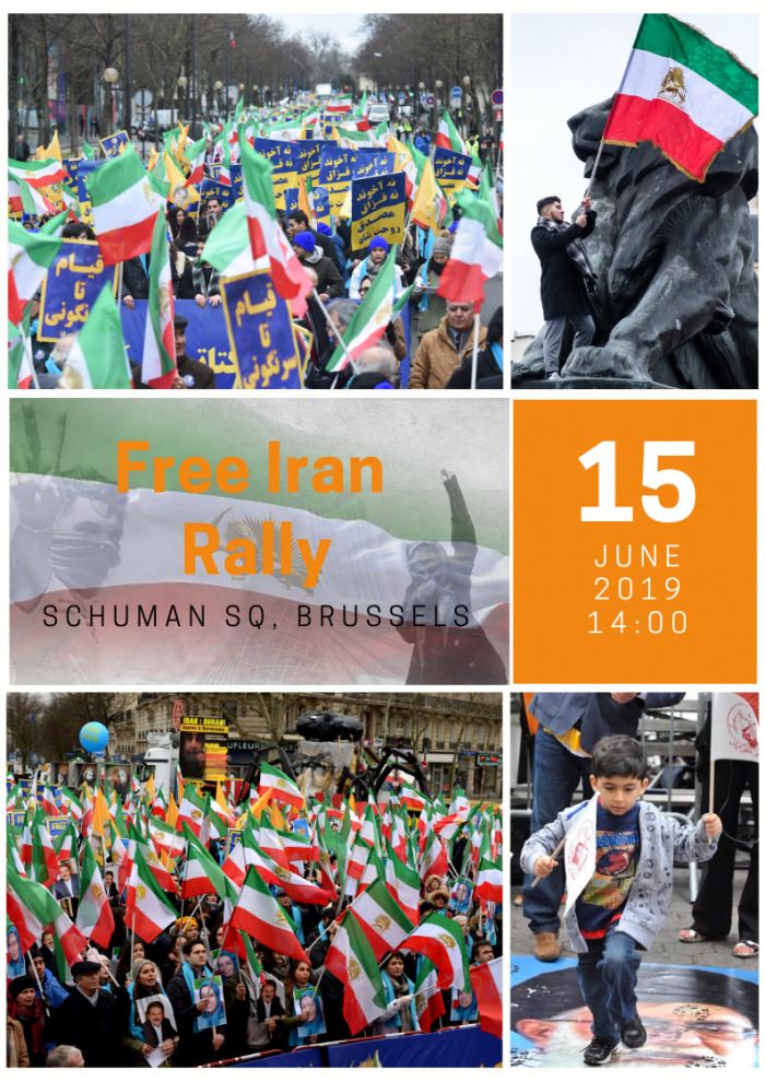 Iranian opposition rally in Brussels-Free Iran