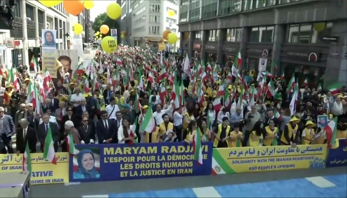 FreeIran Rally Belgium-Supporters of the MEK-June 15, 2019
