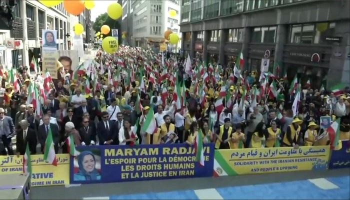 FreeIran Rally Belgium-Supporters of the MEK-June 15, 2019