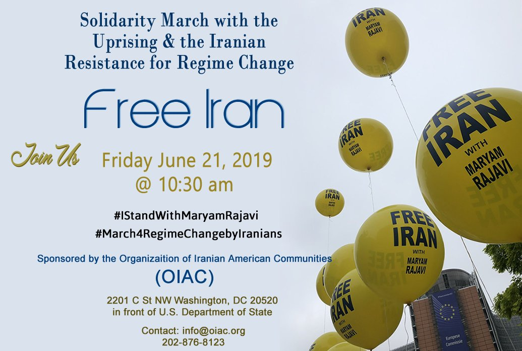 Free Iran Marches.