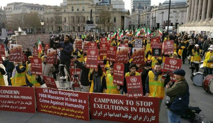 MEK rally against the executions in Iran