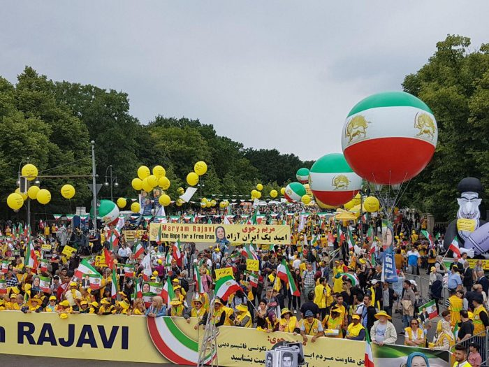 A huge crowd of the supporters of MEK in Berlin
