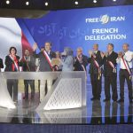 French delegation addressing the MEK members in Ashraf 3