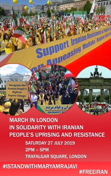 MEK's Free Iran rally in London-July 27, 2019