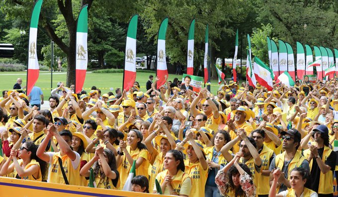 March for regime change in Iran by Iranians, the second in series of demonstrations by supporters of MEK on June 21, 2019