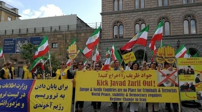 Iranian protest against Zarif