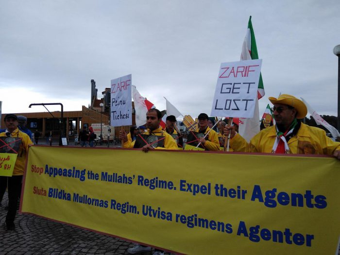 MEK protests Zarif's visit to Finland