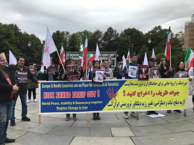 Rally of MEK supporters in Norway