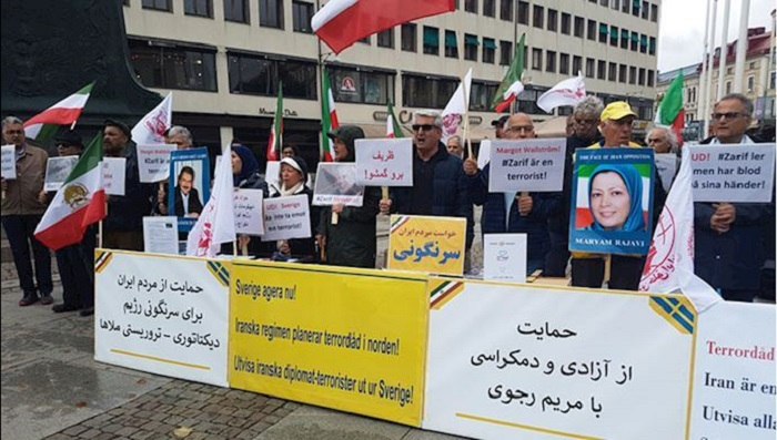 Iranian protest against Zarif's trip to northern Europe