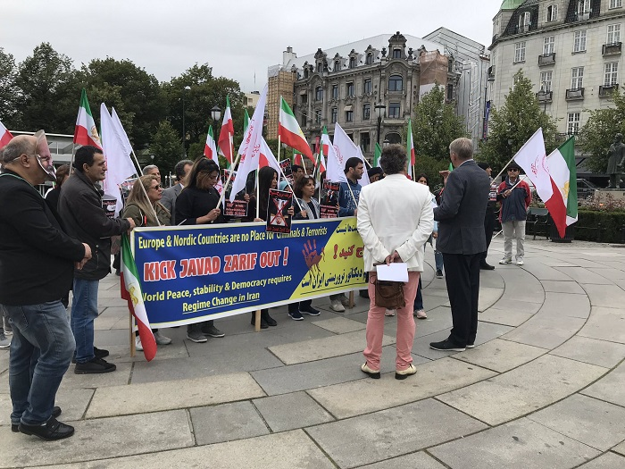 iranians-in-norway-protest-zarif-s-presence