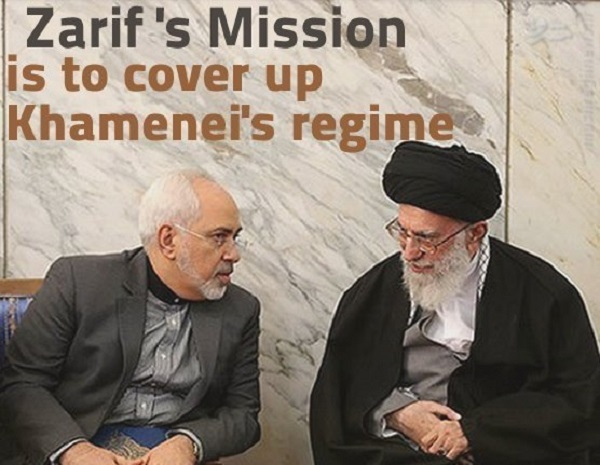 Zarif and dictator of Iran