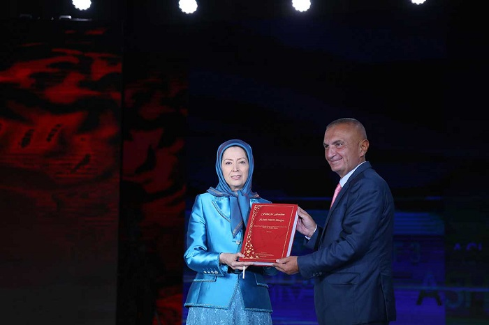 Albanian President and Maryam Rajavi