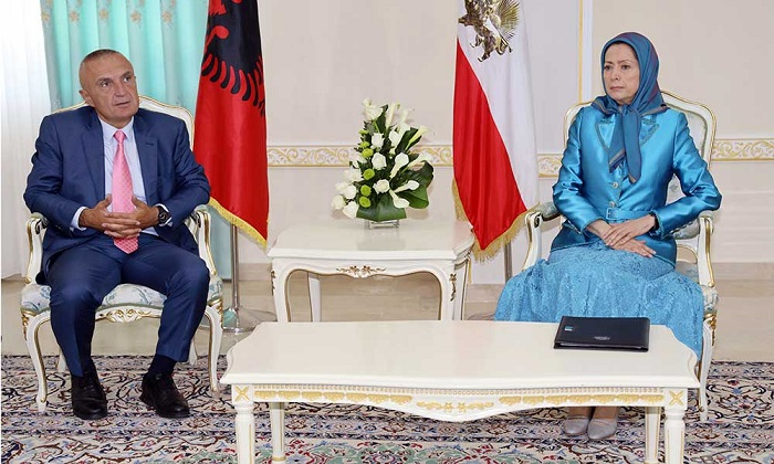 Albanian President meets with Maryam Rajavi in Ashraf 3