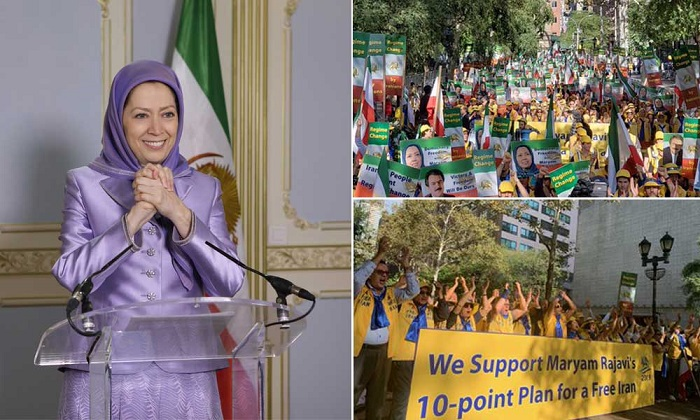 Maryam Rajavi deliver speech to the rally against Ruhani