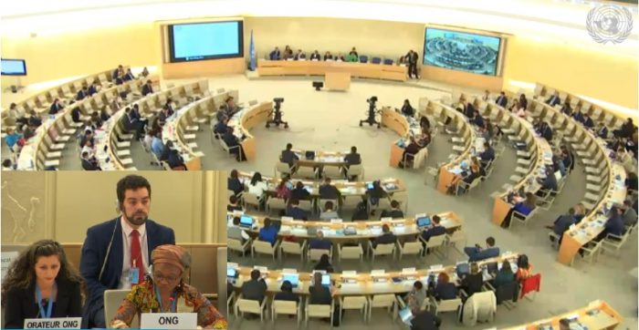 NGO representative addresses the UNHRC on the need to investigate the 1988Massacre