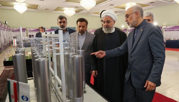 Hassan Rouhani visiting regime's nuclear facilities