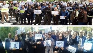 Protests of teachers in Iran