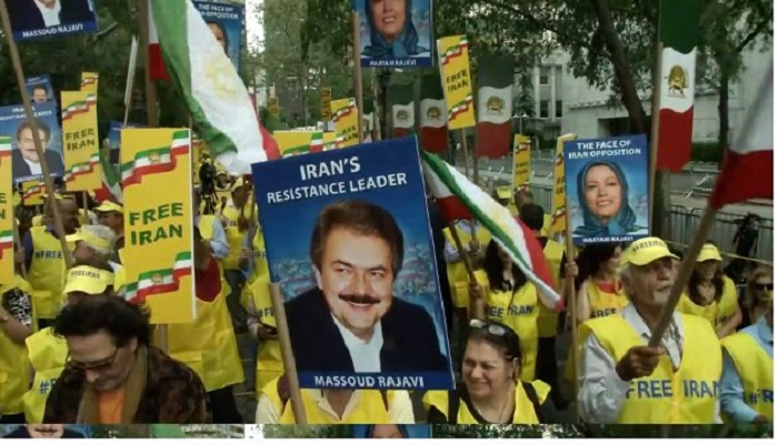 MEK supporters protest in the US objecting Rouhani's presence at the UNGA- New York- September 24, 2019
