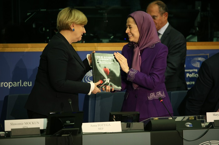 Maryam Rajavi at the EU conference