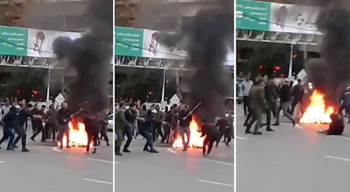 crackdown of Iranian protesters