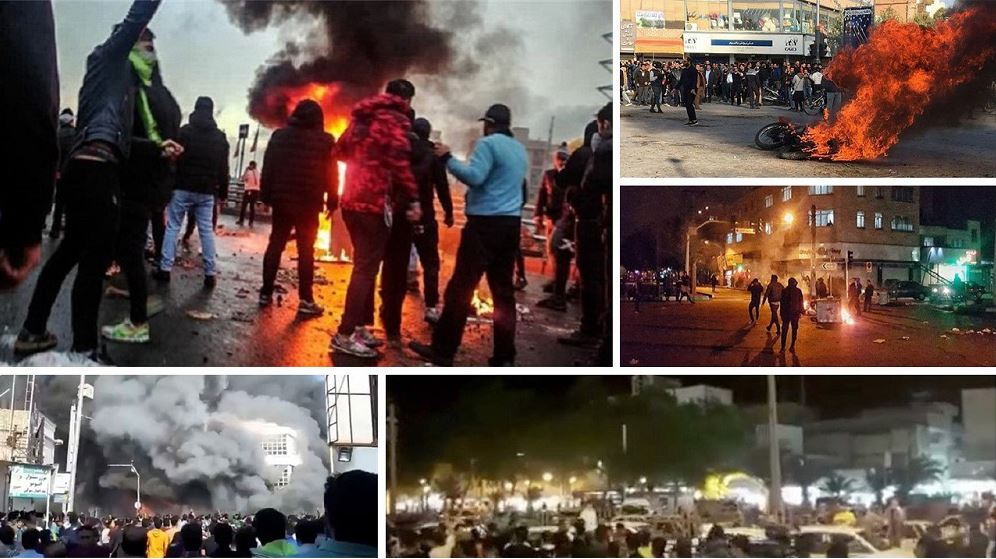 scenes of the November 2019 uprising across Iran