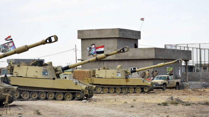 An Iraqi military base near Kirkuk