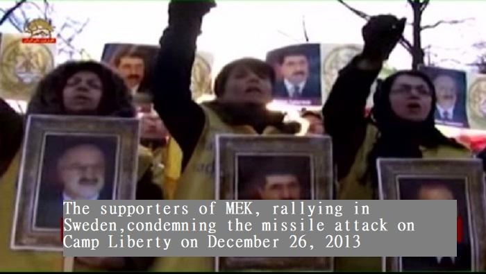 MEK Supporters rally in Sweden- December 2013