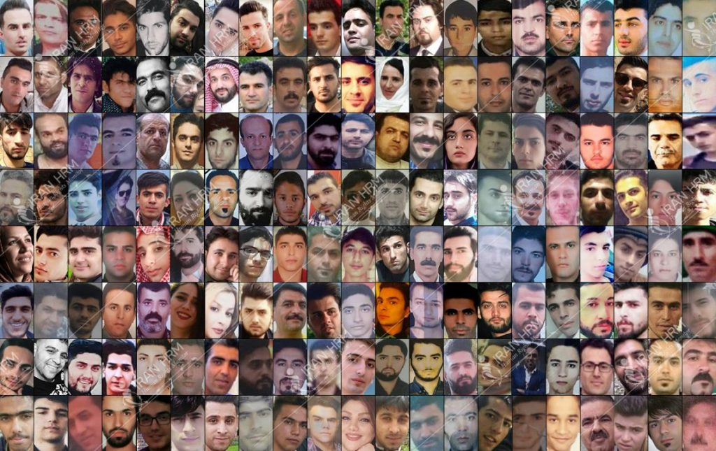 Victims of the bloody crack down on Iran Protests by the Iranian regime repressive forces- November 2019
