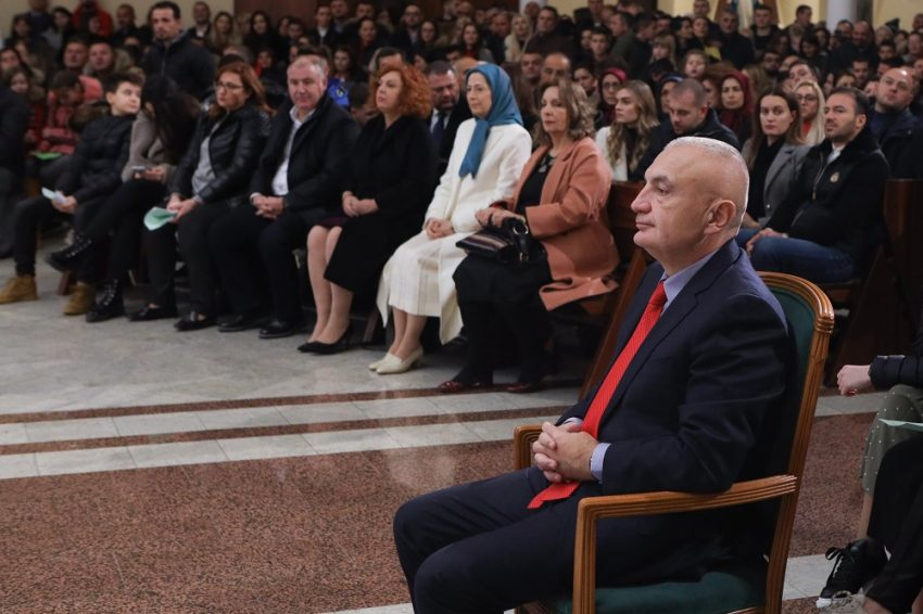 Maryam Rajavi, attends Christmas Eve ceremony in Tirana